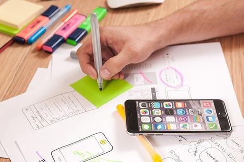 Webdesign pour la création de sites Internet